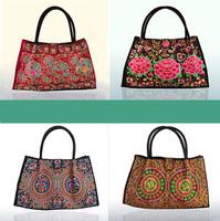 Free shipping Bohemian female star models shoulder bag embroidered ethnic bags medium Embroidery large bag style handbag design