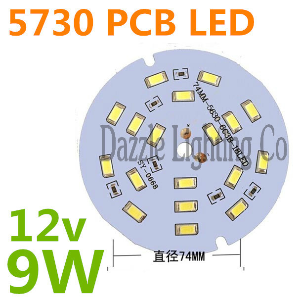 LED Bulb 9W PCB led board 12V Round lamp with Resistance 5730 smd led module(CE&Rosh)(China (Mainland))