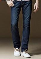 2014 New Brand Jeans Men Plus Size Long Jeans 120cm length  40 42 44 High Quality Autumn Casual Slim Men Jeans Dark Blue N-5
