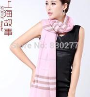 Shanghai Story   female  Warm autumn and winter pure wool scarf Barbara Plaid