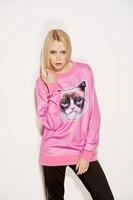 2014 New fashion high quality Women Men angriest cat Print 3D Sweatshirts Hoodies Galaxy sweaters Tops Free shipping