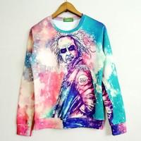 2014 high quality fashion Women/Men Fab Ciraolo white smoke man Print 3D Sweatshirts Hoodies Galaxy sweaters Tops Free shipping