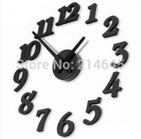 M46 home decoration / cheap DIY wall clocks Plastic face and Circular shape Acrylic materails
