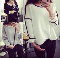 ANJO 2014 New Trends All-match Sweatshirt Geometry Design Loose And Long Sleeve Winter Sweatshirt Women Hoody 3 Colors WY110