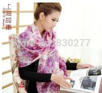 Shanghai Story   female  Autumn and winter   tao hua yuan   warm pure wool long scarf