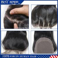 6A Virgin Hair Peruvian Closure Free Part 3 Part Lace closure Bleached Knots Middle part Straight Human Hair Lace Closure