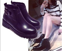2014 new style autumn and winter side zipper with round platform shoes Knight Martin boots woman ankle boots size35-40 B209