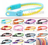 Free shipping 5# Double color zipper bracelets fashion pull head bracelet Hot sale zipper jewelry