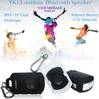 portable sport subwoofer bluetooth speaker support flashlight/MP3/FM/susupension loop/polymer battery
