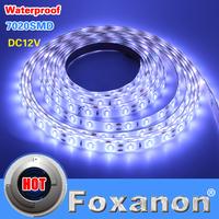Foxanon Brand 7020 Chip LED Strip Ultre Bright Cool White IP65 Waterproof 12V 60led/M Flexible Light More Bright Than 5050 5730