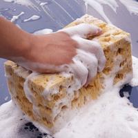 Hot! New Fashion Mini Yellow Car Auto Washing Cleaning Sponge Block, Free & Drop Shipping