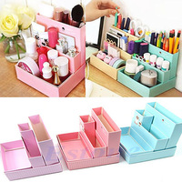 A25 hot-selling newest Paper Board Storage Box Desk Decor Stationery DIY Makeup Cosmetic Organizer New Free Shipping