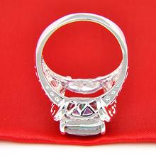 CRAZY Brand New Hot Sale Romantic Genuine Rainbow Fire Mystic Topaz 925 Silver Ring For Women