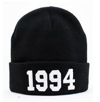 Cheap 1994 Justin Bieber Beanie Sale Winter Knitted Hat For Men Women Caps Casual Skullies Hip-hop B-boy London Black