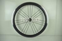High Performance 700c carbon fiber 50mm G3 black clincher/tubular road bike wheelset, Aluminum Aolly Brake Surface wheelset
