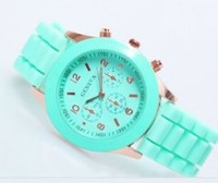Geneva silicone candy color casual watch Sports watch Wristwatches kids watches