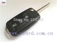 Free Shipping VW Seat Skoda 3 Button Flip Key case New Style 5K0 837 202 AF 5K0 837 202 AG 5K0 837 202 AB