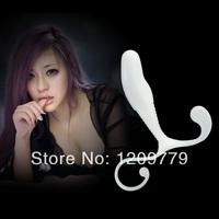 P Hot Selling  White Male Prostate Massager Stimulator massage T0520 P