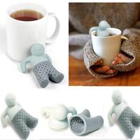 200pcs/lot Creative Silicone Mr.Tea Infuser / Mr.Tea Strainer
