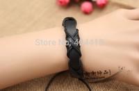free shipping 2014 Fashion leather bracelet lover boys and girls bracelet gift