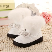 2014 baby girls winter snow boots waterproof bow  Foot length 13.5 ~ 15.5cm