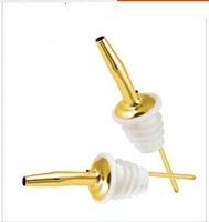 FREE SHIPPING 10pcs Stainless steel Wine Pourer, Pourer, Oil Pourer, gold pourer