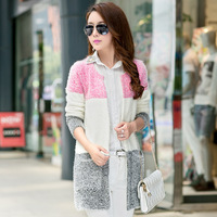 2015 Cotton Full Real Sale Women Sweater Cardigans Hitz Long Paragraph Womens Cardigan Mohair Sleeved Striped Flocking Into Coat