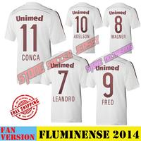2014  15Club Fluminense Home White Football Soccer Jersey 11 CONCATop Thailand Futbol Shirt futebol camisa uniform men wea