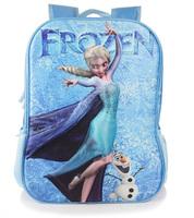 Frozen In schoolbag Fashion Cartoon Child Backpack 3D bag Children's bag backpack  1282888519 201411HL