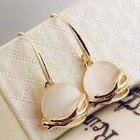 Золото 18k позолоченный опала камень мотаться серьги для женщин капли воды форме Рождественский подарок ювелирные изделия высокого качества