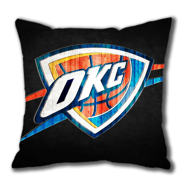 Oklahoma City Thunder on Black Cotton Square Pillow Case(China (Mainland))