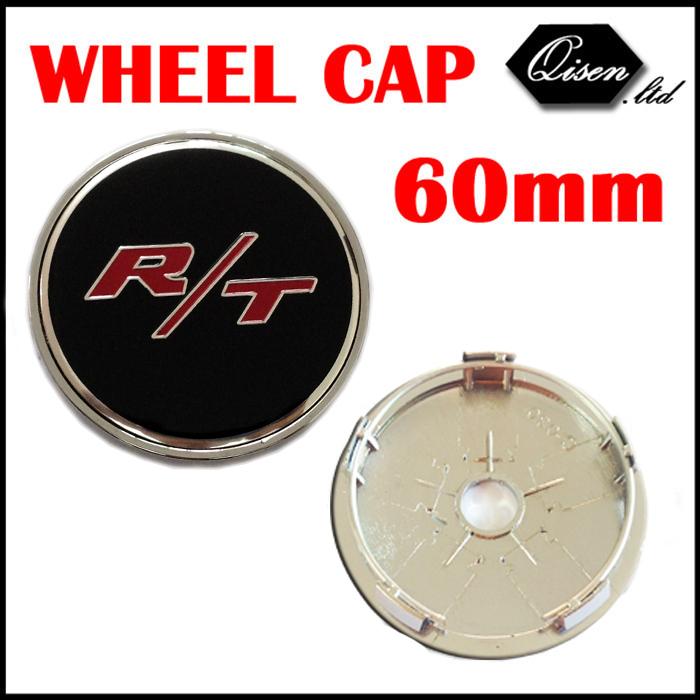 4 X 60MM R/T RT BLACK CAR WHEEL Hub Center LOGO Caps Metal Aluminum emblem Fits for Dodge Charger Ram 1500 Challenger #SO296(China (Mainland))