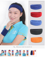 Fashion Cotton Headbands Sweatband Running Exercise Sport Towel Headband Assorted Colors