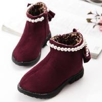 2014 winter snow boots waterproof baby girls  Foot length 13.5 ~ 15.5cm