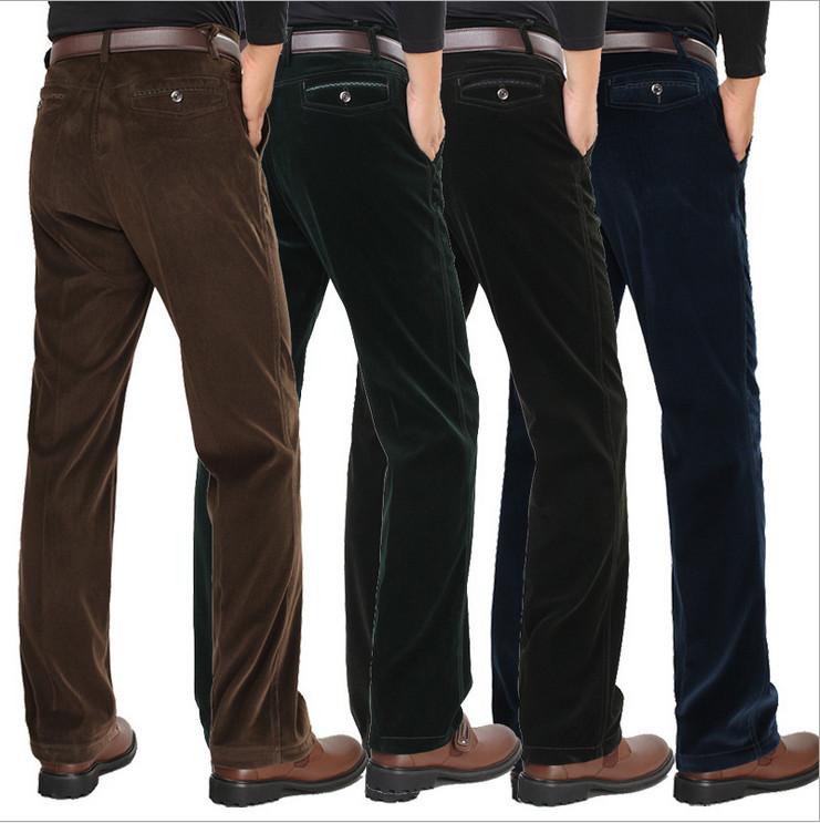 HOT Casual Famous Brand Wrinkle Mens Black Dress Men Suit Pants ...