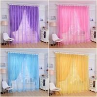 Rose window screening balcony curtain tulle wedding bedroom party livig room curtain yarn