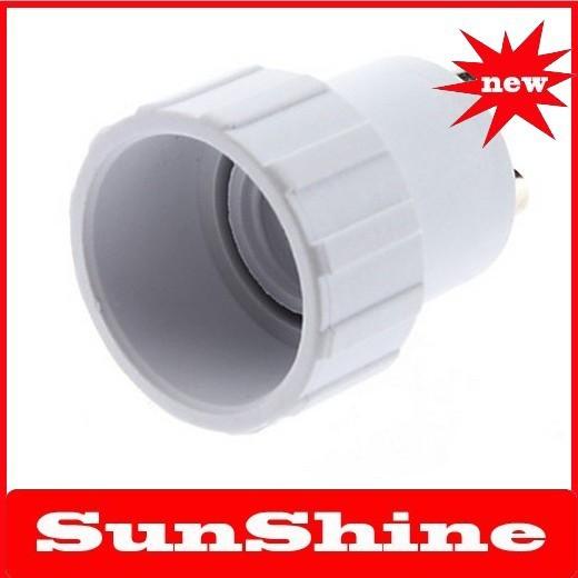 Free shipping new 6pcs/lot GU10 to E14 LED Bulbs Socket Adapter(China (Mainland))