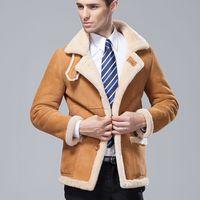 Fashion male medium-long akrasanee fur one piece genuine sheep leather clothing outerwear leather clothing men's clothing trench