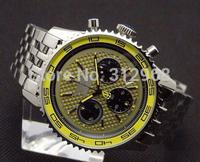 brand new six hands auto chronograph super sport  steel band  wrist watch  men