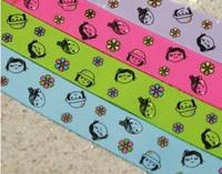 "Wholesale 100 yards 22mm (7/8"") Cartoon Girl Lanyard Packing Ribbons lace-up"