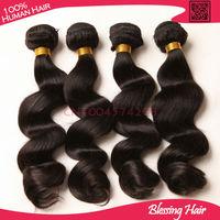 Brazilian loose wave hair  4pcs lot 6a unprocessed Brazilian virgin hair loose wave human remy hair extension loose wavy bundles