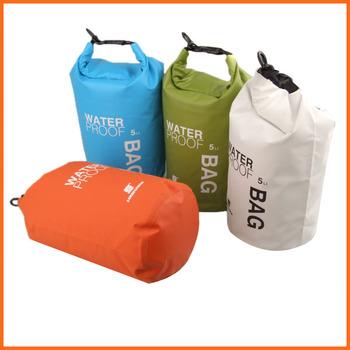 5L портативный сверхлегкий на открытом воздухе отдых на природе путешествия рафтинг водонепроницаемый сухой мешок плавание путешествия комплекты оранжевый / белый / зеленый / синий