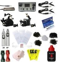 Free Shipping Complete 2 Machine Tattoo Kit Machines Guns Equipment Ink Gun Set Tatoo 5ml ink
