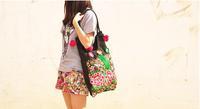 Free shipping Ethnic embroidery bag fashion personality Ethnic Chinese style shoulder bag lady style handbag design messenger