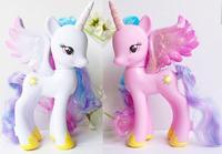 2PCS/SET Promotions 14cm Limited Collector's Edition Genuine MLP Alicorn Pegacorn Princess Celestia Cadance dolls