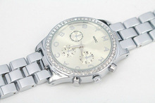 2014 Brand Women Watch Rhinestone quartz watch Fashion lady luxury dress bracelet Wristwatches Christmas gift free