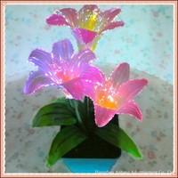 LED optical fibre lily flower for decoration