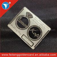 Wholesale Silver Customized  Wedding Card Metal New Idea Elegant Diamond Wedding Invitation Card for Souvenir