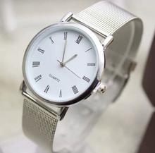 LZ Jewelry Hut DK1101 2014 New Fashion Design Stainless Steel Strap Roman Numerals Quartz Lovers Dress Watch