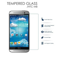 1pcs Explosion Proof Premium Tempered Glass Screen Protector Film for HTC ONE M8 Screen Guard Drop ship